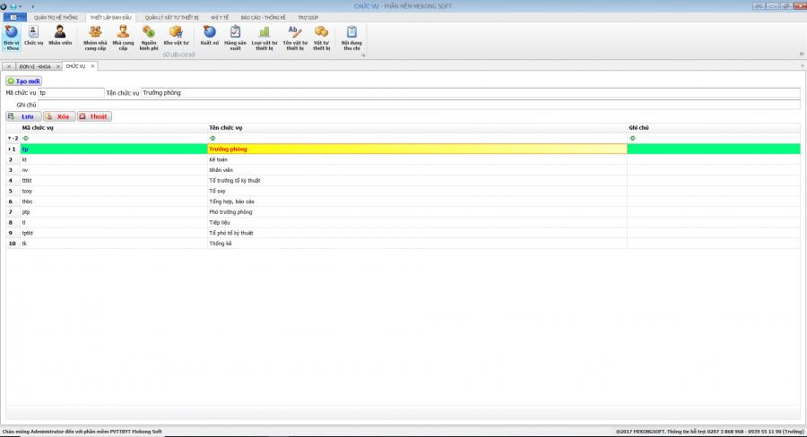 Phần mềm quản lý phòng vật tư thiết bị y tế bệnh viện 3