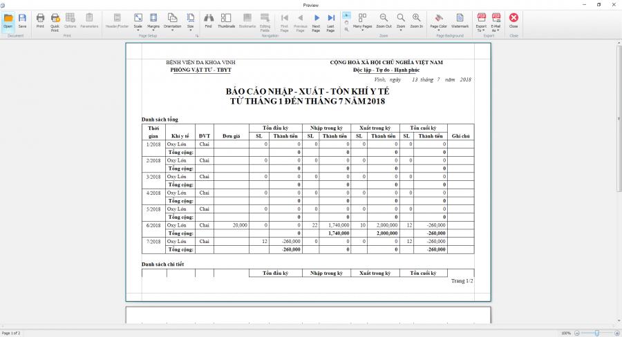 Phần mềm quản lý phòng vật tư thiết bị y tế bệnh viện 27