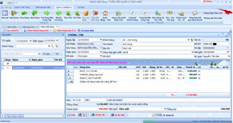 phần mềm quản lý kinh doanh, gia công kính xây dựng 7