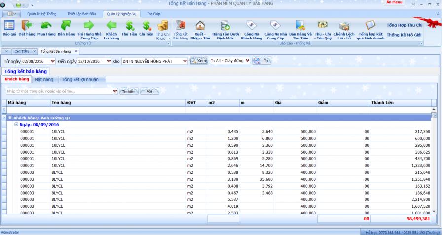 phần mềm quản lý kinh doanh, gia công kính xây dựng 12