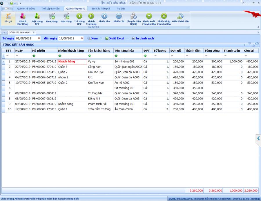 Phần mềm quản lý shop thời trang 5