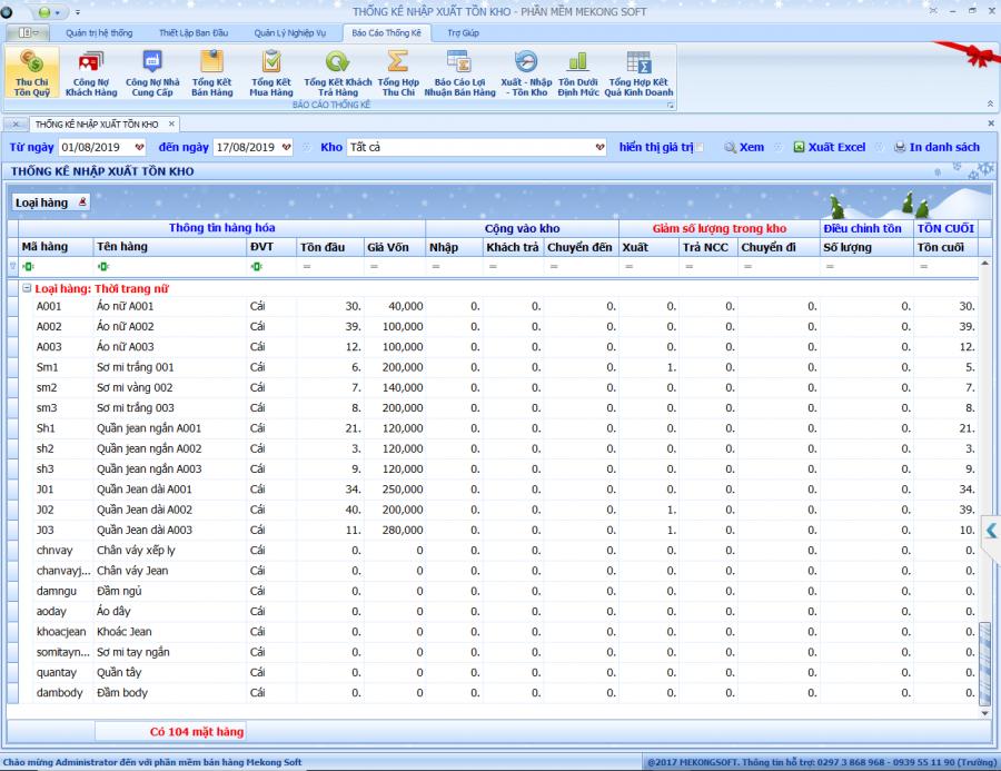 Phần mềm quản lý shop thời trang 4