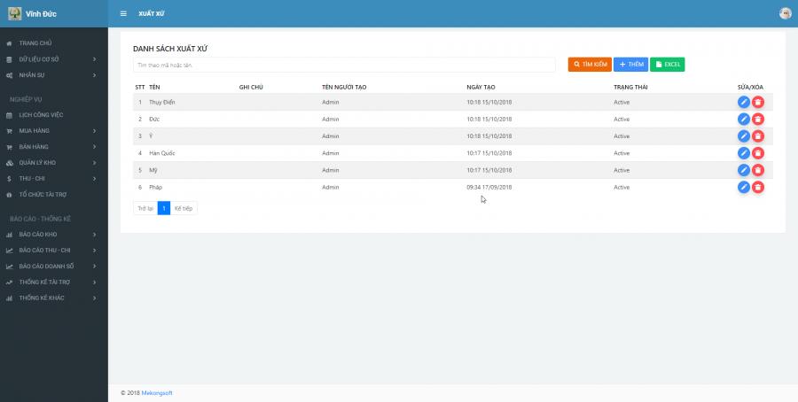 Phần mềm quản lý kinh doanh, thầu vật tư thiết bị Y tế - hình 5