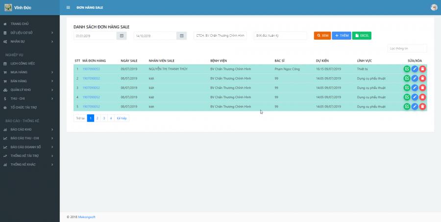 Phần mềm quản lý kinh doanh, thầu vật tư thiết bị Y tế - hình 15