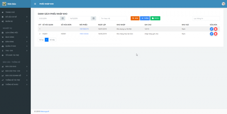 Phần mềm quản lý kinh doanh, thầu vật tư thiết bị Y tế - hình 17