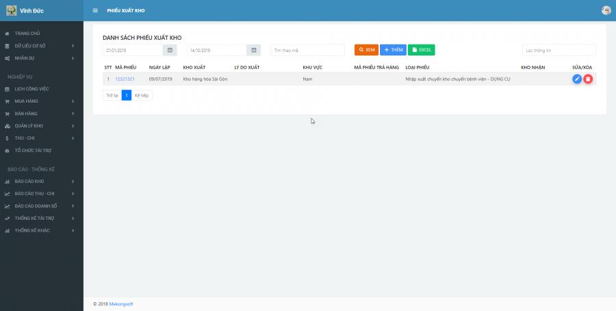 Phần mềm quản lý kinh doanh, thầu vật tư thiết bị Y tế - hình 18