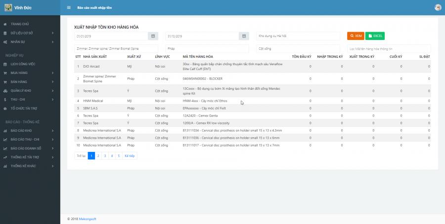 Phần mềm quản lý kinh doanh, thầu vật tư thiết bị Y tế - hình 19
