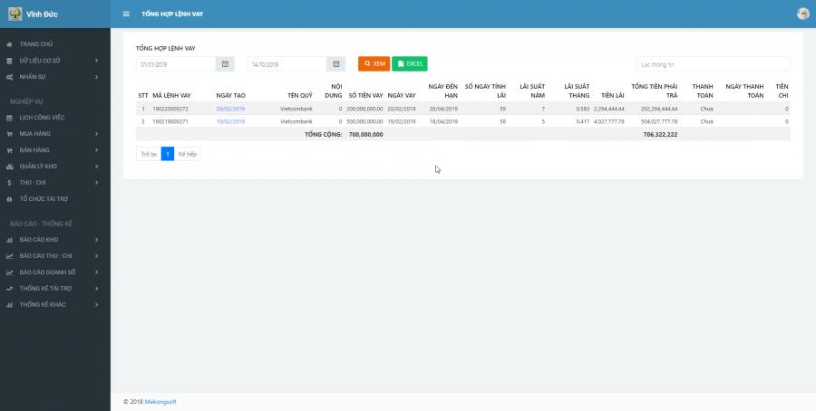 Phần mềm quản lý kinh doanh, thầu vật tư thiết bị Y tế - hình 30