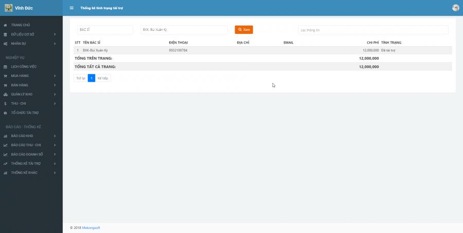 Phần mềm quản lý kinh doanh, thầu vật tư thiết bị Y tế - hình 33
