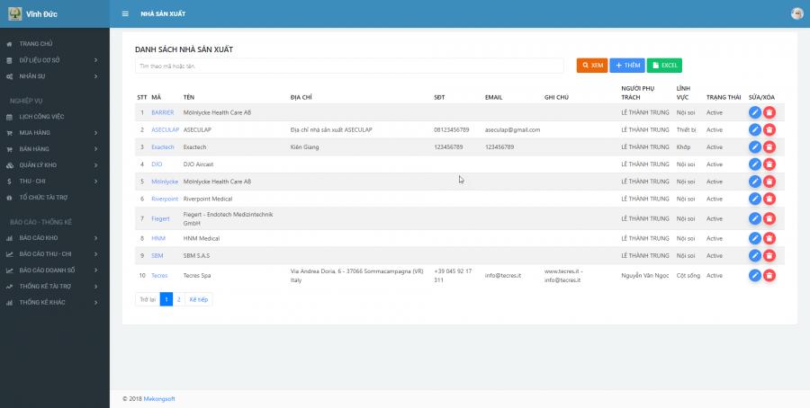 Phần mềm quản lý kinh doanh, thầu vật tư thiết bị Y tế - hình 7