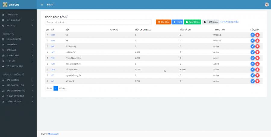 Phần mềm quản lý kinh doanh, thầu vật tư thiết bị Y tế - hình 8