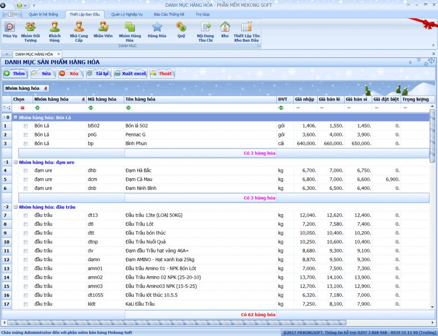 Phần mềm quản lý bán hàng vật tư nông nghiệp 2