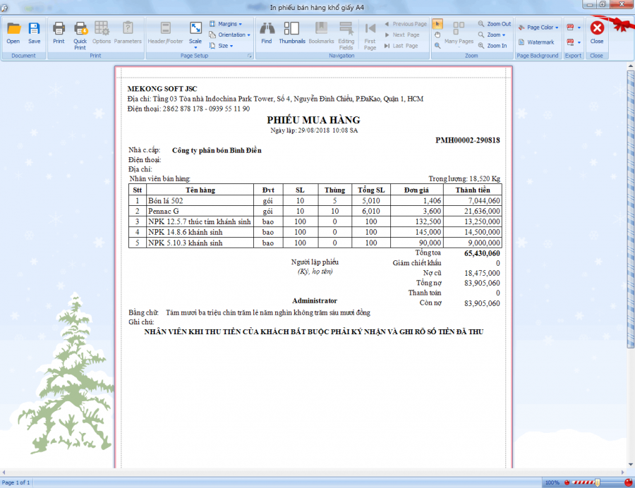 Phần mềm quản lý bán hàng vật tư nông nghiệp 4