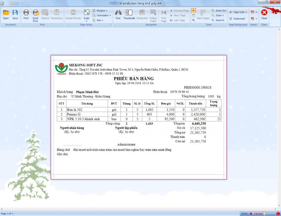 Phần mềm quản lý bán hàng vật tư nông nghiệp 6