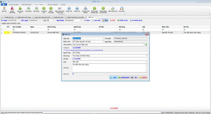 Phần mềm quản lý sản xuất in ấn thiệp, thi công quảng cáo 7