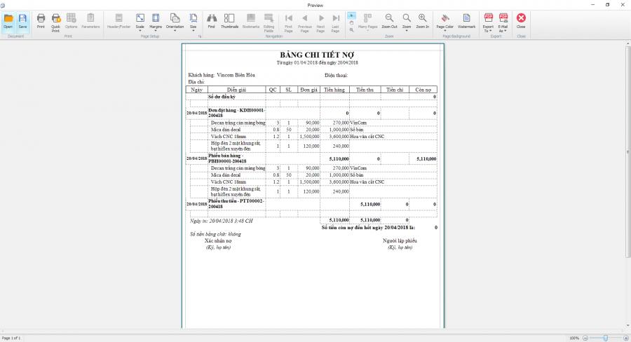 Phần mềm quản lý sản xuất in ấn thiệp, thi công quảng cáo 11