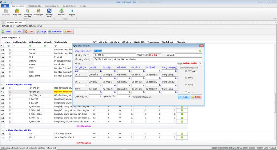 Phần mềm quản lý sản xuất in ấn thiệp, thi công quảng cáo 2