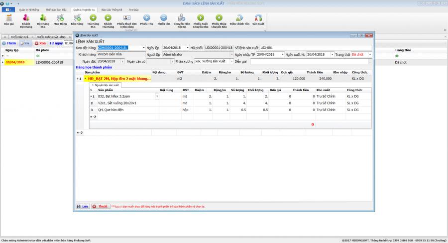 Phần mềm quản lý sản xuất in ấn thiệp, thi công quảng cáo 5