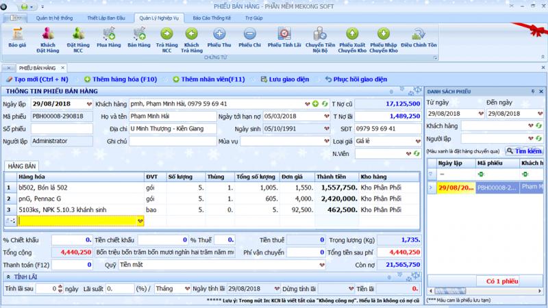 Phần mềm quản lý bán hàng, sản xuất cho doanh nghiệp vừa và nhỏ 2