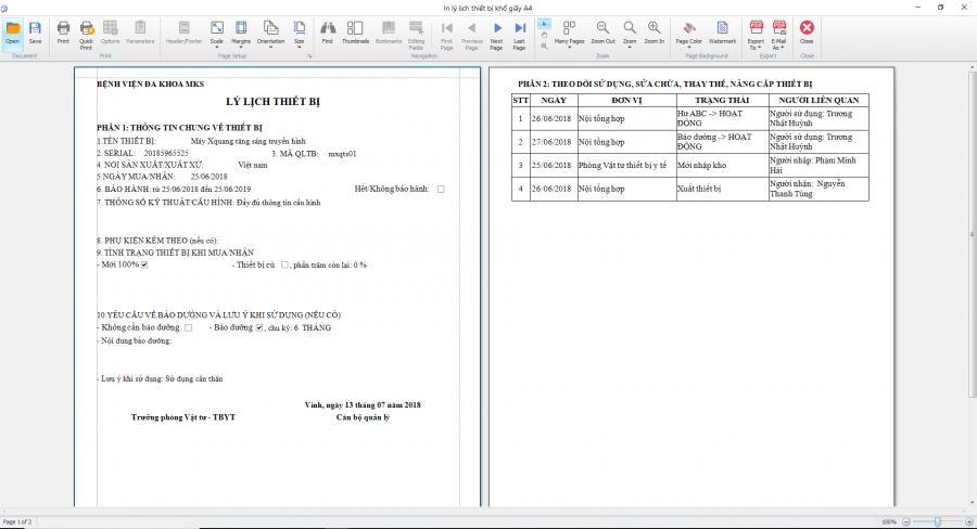 phần mềm quản lý phòng vật tư thiết bị y tế Mekong Soft 4