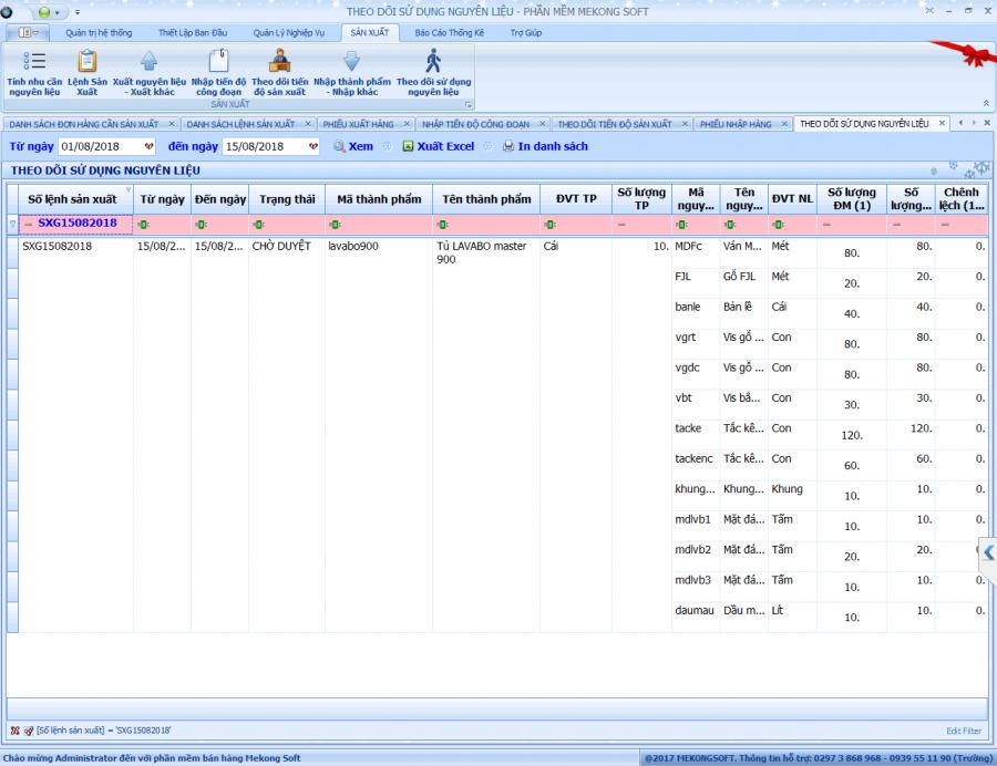 Phần mềm quản lý bán hàng, sản xuất cho doanh nghiệp vừa và nhỏ 8